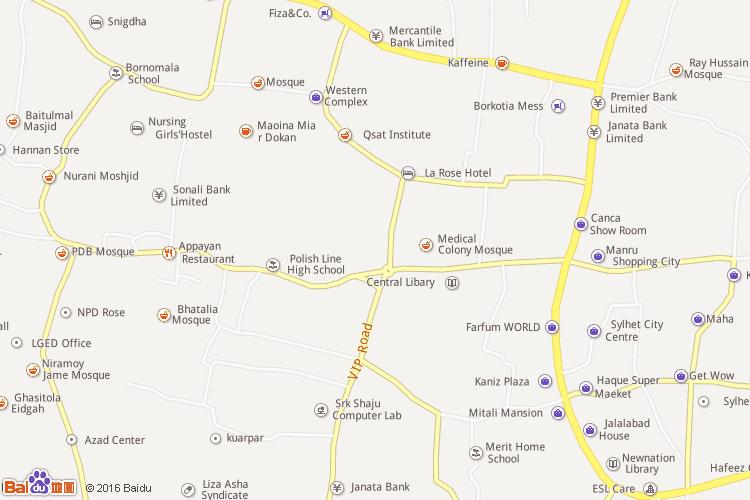 锡尔赫特地图
