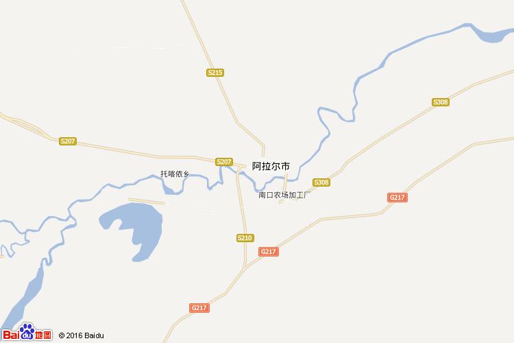 阿拉尔地图
