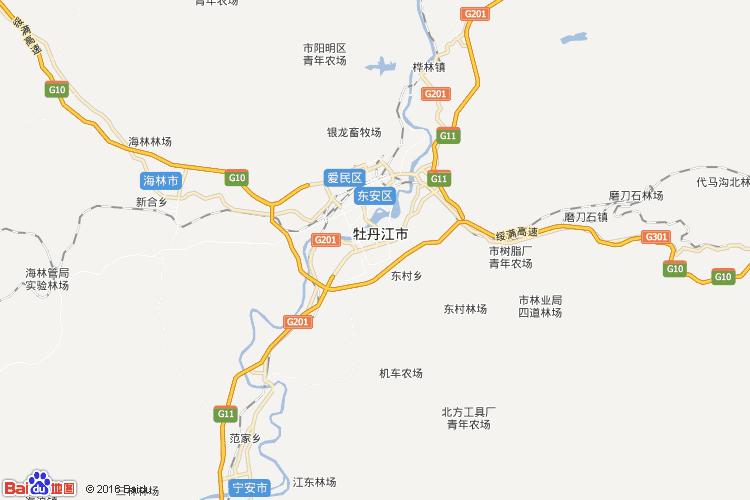 牡丹江地图