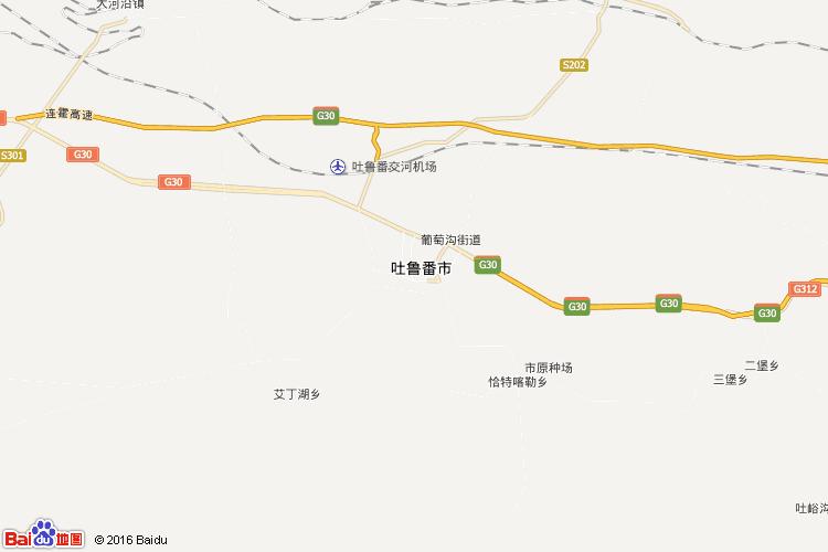 吐鲁番地图