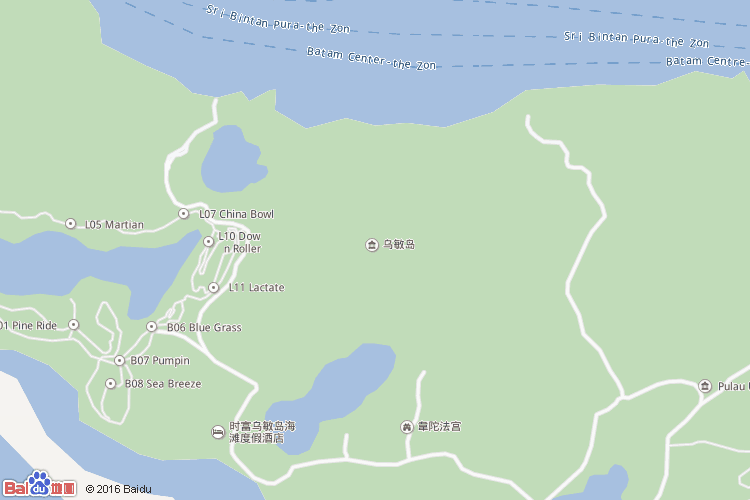 乌敏岛地图