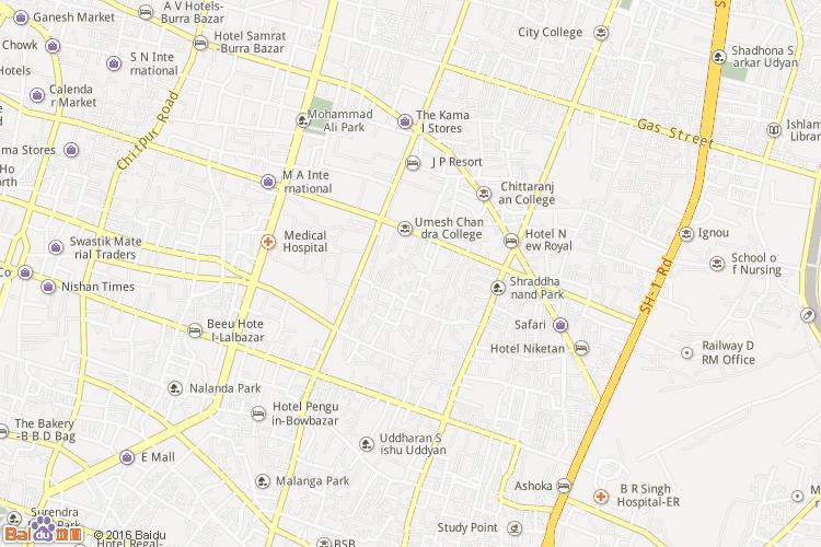 加尔各答地图
