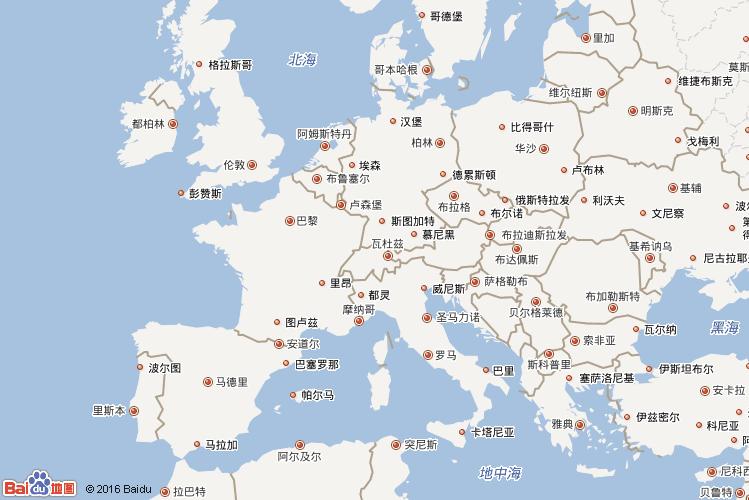 欧洲地图查询 欧洲地图全图高清版