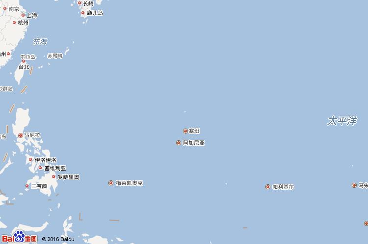 马里亚那群岛地图