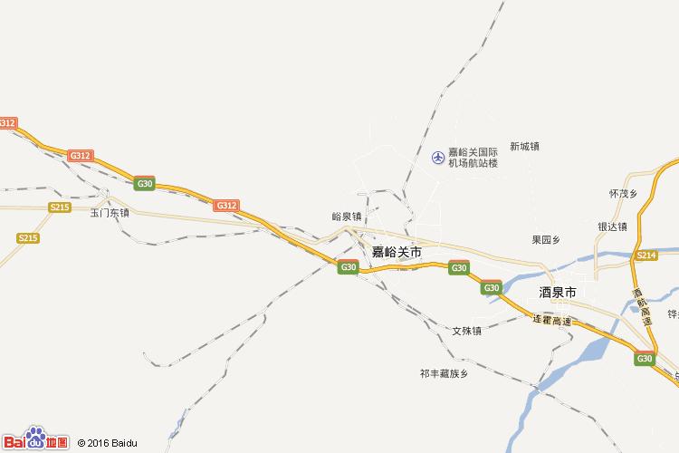 嘉峪关地图