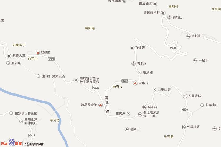 青城山地图