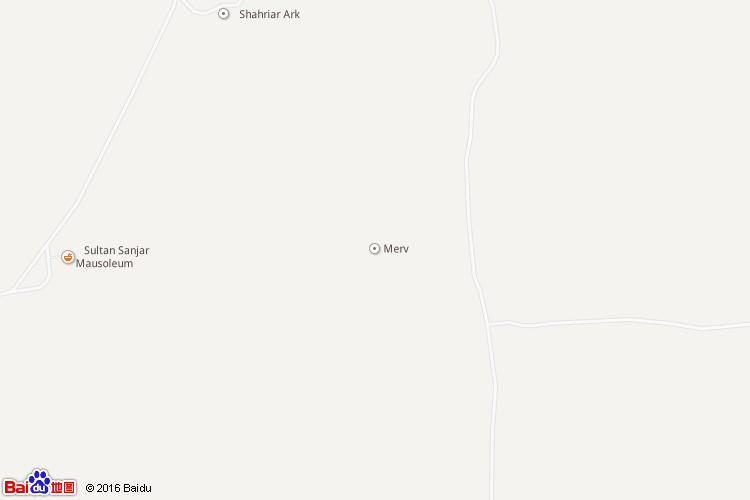 梅尔夫市地图