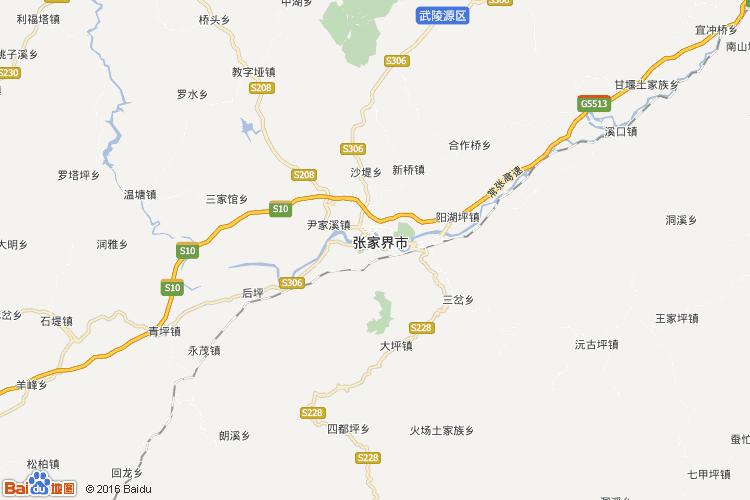 张家界地图