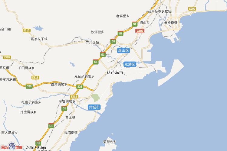 葫芦岛地图