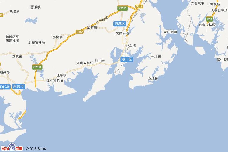 防城港地图