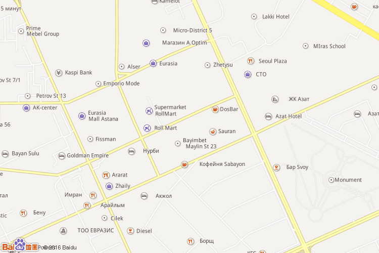 阿斯塔纳地图