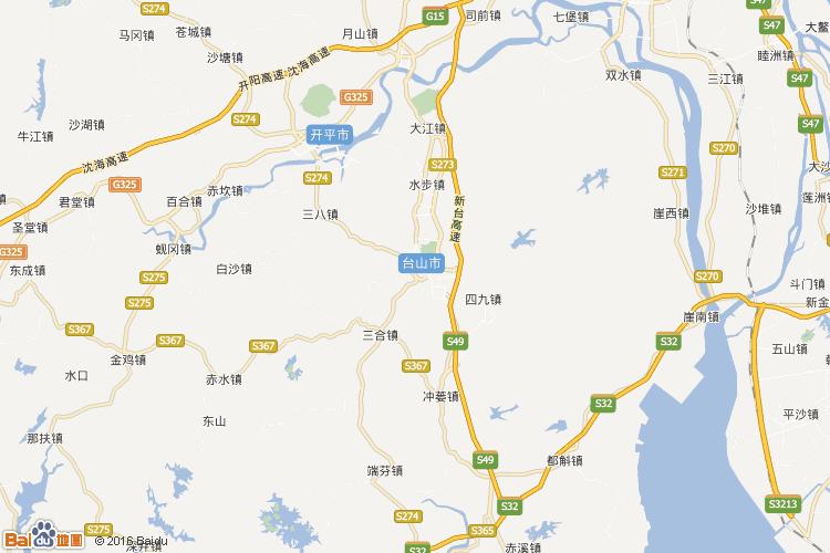 鹤山地图查询 鹤山地图全图高清版