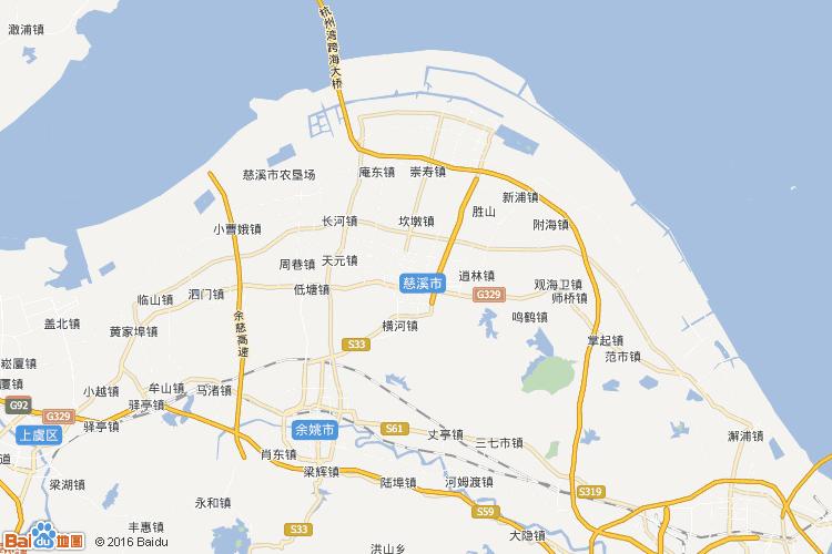 慈溪地图图片