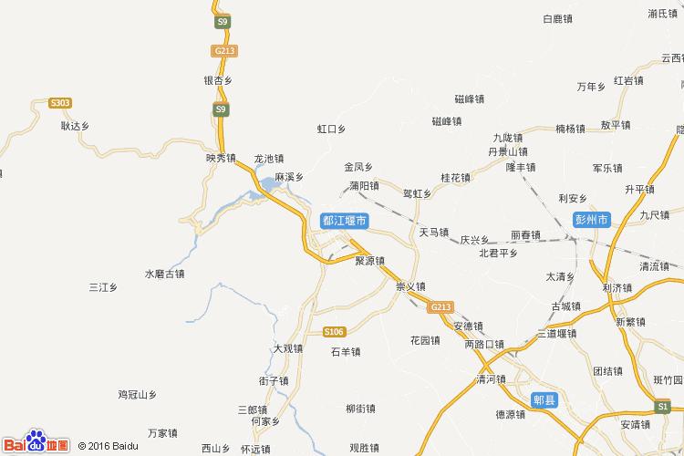 都江堰地图