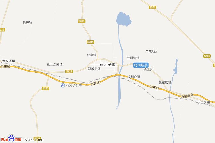 石河子地图