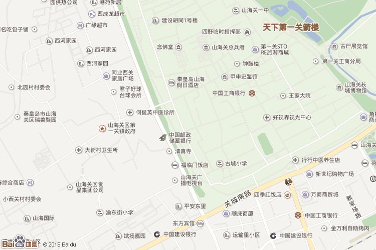 北戴河市区地图图片