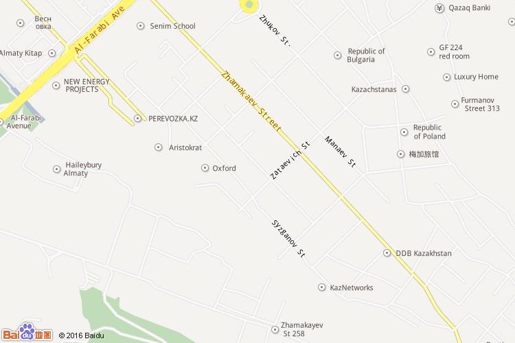 阿拉木图地图