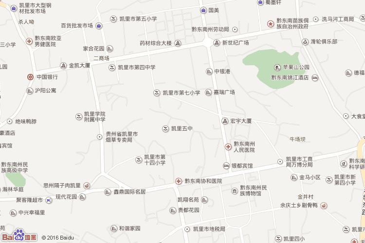 黔东南地图