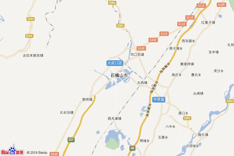 石嘴山地图
