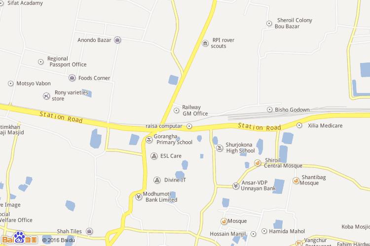拉杰沙希专区地图