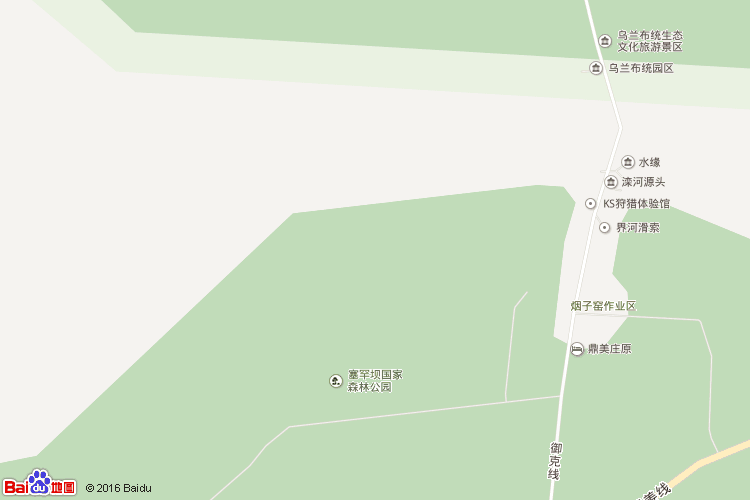 乌兰布统地图