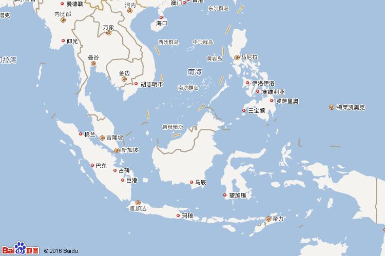 文莱达鲁萨兰地图
