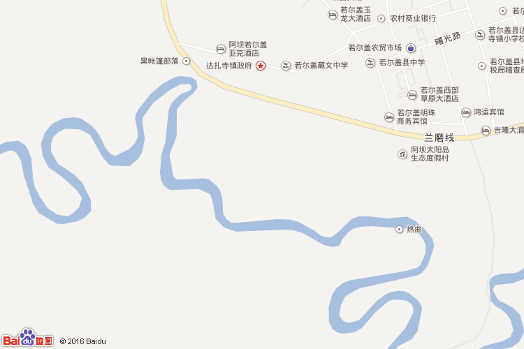 若尔盖地图