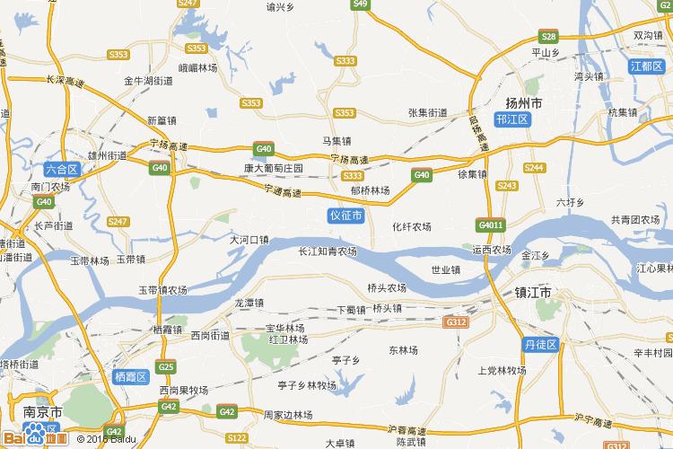 高邮地图查询 高邮地图全图高清版
