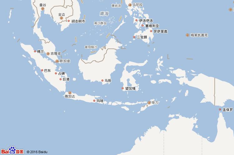 印度尼西亞地圖