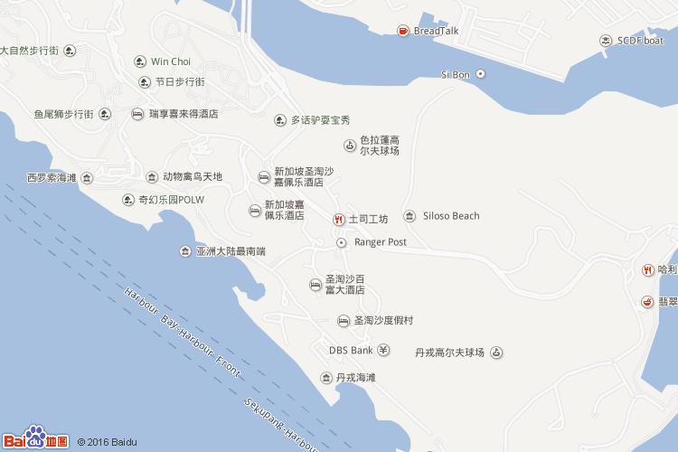 圣淘沙岛地图