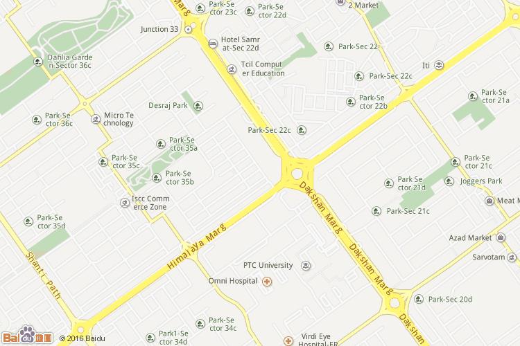 昌迪加尔地图
